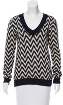 ADAM by Adam Lippes V-Neck Chevron Pattern Sweater