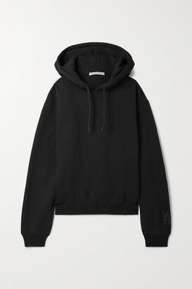alexanderwang.t - Cotton-blend Jersey Hoodie - Black