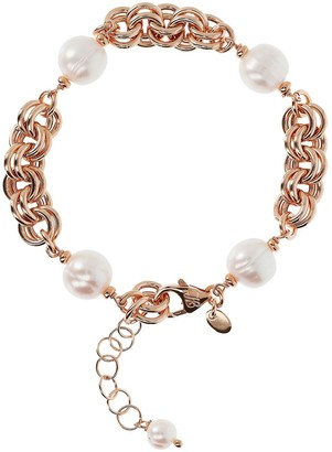 Honora Cultured Pearl Double Link Bracelet