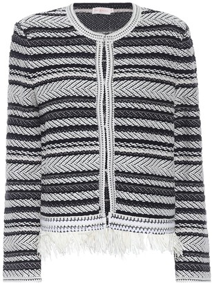 Tory Burch Payton striped cotton cardigan
