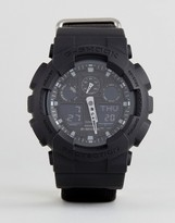G-Shock G Shock Ga-100bbn-1aer Digital Canvas Watch In Black