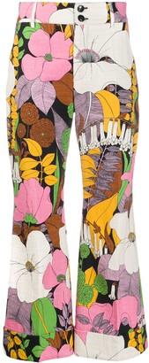 La DoubleJ Hendrix floral-print trousers