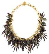 Ashley Pittman Quill Horn & Labradorite Collar Necklace