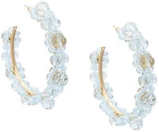 Simone Rocha crystal daisy hoops