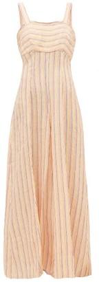 Three Graces London Paige Striped Linen Wide-leg Jumpsuit - Multi