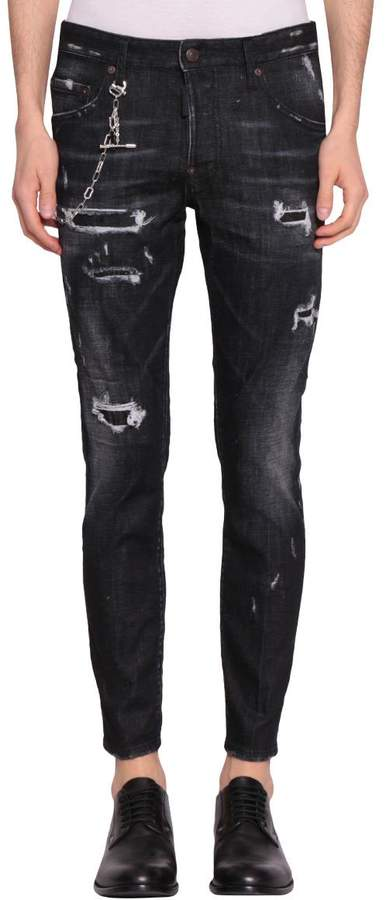 DSQUARED2 Skater Cotton Denim Jeans