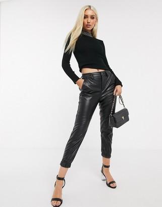 Lipsy embellished jumper in black