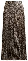 Haider Ackermann Andromeda leopard-plissé pleated skirt