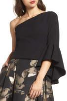 Eliza J One-Shoulder Bell Sleeve Top