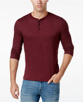 Club Room Men's Long Sleeve Herringbone Henley