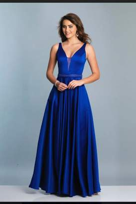 Dave and Johnny Sleek Plunging Gown