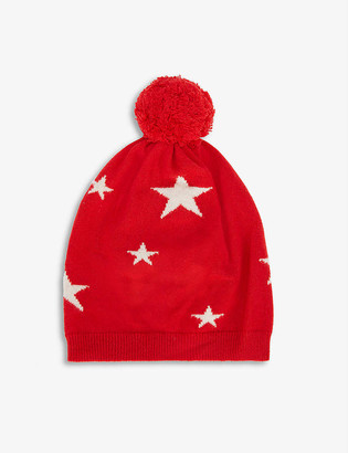 Chinti and Parker Star-print cashmere beanie hat