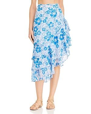 All Things Mochi Ebony Tiered Asymmetric Skirt