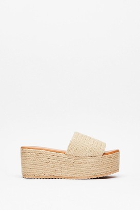 Nasty Gal Womens You're a Natural Woven Platform Sandals