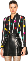 Saint Laurent Star Spray Crepe de Chine Blouse