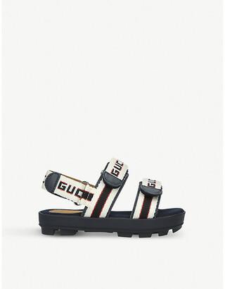 Gucci Sam logo-print canvas sandals