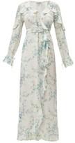 D'Ascoli Bedford Floral-print Silk Dress - Womens - Blue