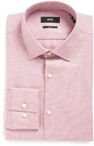 BOSS Men's Slim Fit Print Dress Shirt