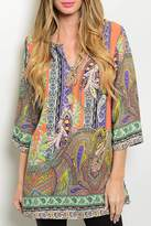 Honey Punch Multicolor Tunic Top