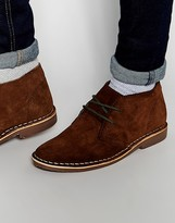 Red Tape Leather Suede Desert Boots