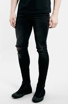 Topman Men's Ripped Spray On Skinny Jeans