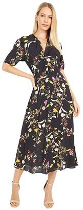 Nicole Miller Crepe Twist Front Dress (Vint Bot) Women's Dress