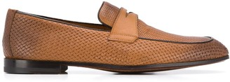 Doucal's Woven Penny Loafers