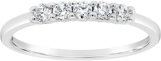 Affinity Diamond Jewelry Affinity 1/4 cttw Diamond 5-Stone Band Ring, 14K Gold