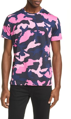 Valentino Camo Print Crewneck T-Shirt