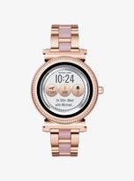 Michael Kors Sofie Pave Rose Gold-Tone and Acetate Smartwatch