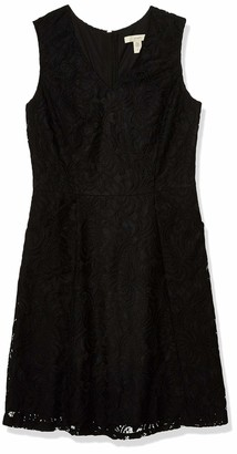 Lark & Ro Women's Sleeveless Fit and Flare Dress with Exposed Zipper