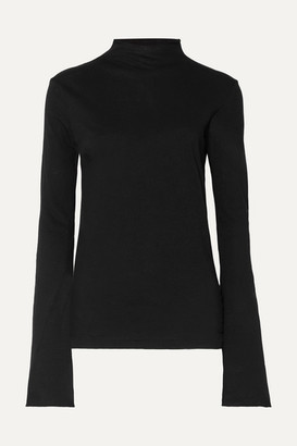 Bassike Organic Cotton-jersey Top - Black