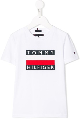 Tommy Hilfiger Junior logo print short-sleeved T-shirt