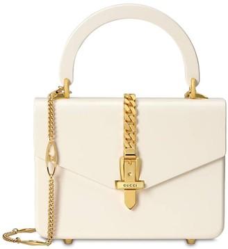 Gucci MINI SYLVIE PLEXI TOP HANDLE BAG