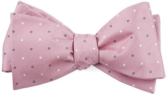Tie Bar Suited Polka Dots Soft Pink Bow Tie