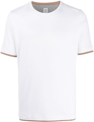 Eleventy layered-effect crew-neck T-shirt