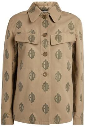Chloé Cotton Monogram Print Jacket
