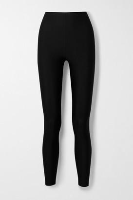Balenciaga Satin-jersey Leggings - Black
