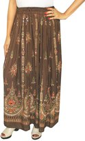 Maple Clothing Womens Indian Long Skirts Sequins Ankle Length India Clothing (Blue)