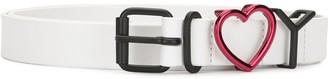 Y/Project Heart-Motif Leather Belt