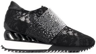 Le Silla Rhinestone Embellished Sneakers