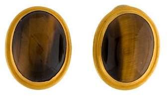 Yossi Harari 24K Tiger's Eye Earrings