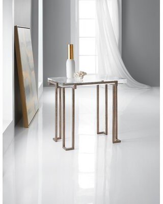 Hooker Furniture Melange Glass Top Frame End Table
