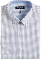 Nautica Navy and White Check Dress Shirt