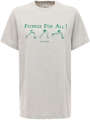 Sporty & Rich Asics Collab Cotton T-shirt