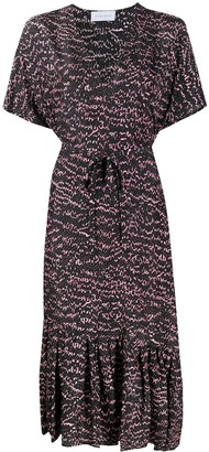 Christian Wijnants Abstract Snake Print Silk Dress