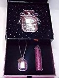 Victoria's Secret Bombshell Pink Diamonds EDP Gift Set with Necklace and Rollerball