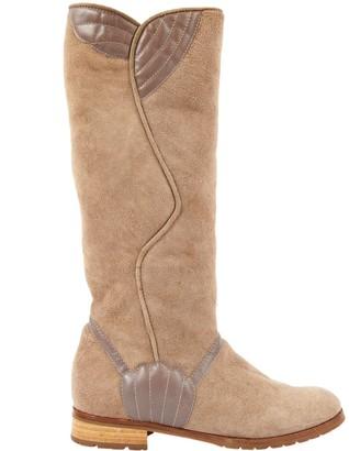 Marc Jacobs Beige Suede Boots