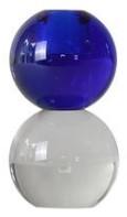 Specktrum - Dark Blue Ready Twin Crystal Candlestick - Blue/Glass