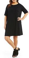 Eileen Fisher Plus Elbow Sleeve Dress